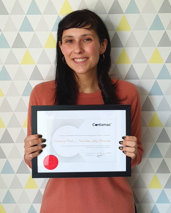 Sara King, ABDO Contact Lens Distance Learning Course Winner, 2018